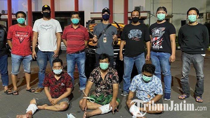 Sempat Buron, Tiga Begal Mobil Carteran di Surabaya ini Dihadiahi Timah Panas