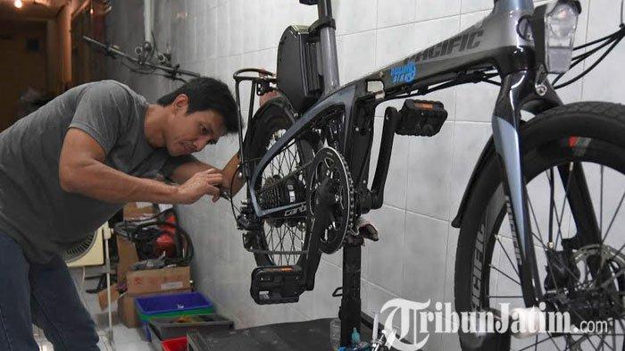 Gowes Lagi Tren di Surabaya, Bengkel Sepeda Pancal Kewalahan Terima Servis Sepeda