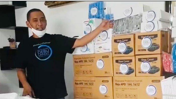 Cegah Covid-19, Komunitas Debu Langit Salurkan Donasi Ribuan Alat Pelindung Diri untuk Tenaga Medis