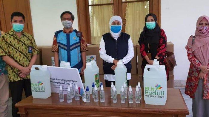 PLN Peduli Serahkan Donasi Desifektan dan Hand Sanitizer Senilai Rp 100 juta ke Pemprov Jatim