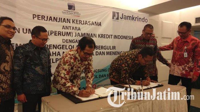 Perum Jamkrindo dan LPDB-KUMKM Tandatangani Kerja Sama Penjaminan Pinjaman untuk Koperasi dan UKM