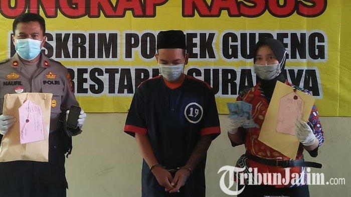 Edarkan Tembakau Gorilla  dan Pil Koplo, Pemuda di Surabaya Ini Diringkus Polisi