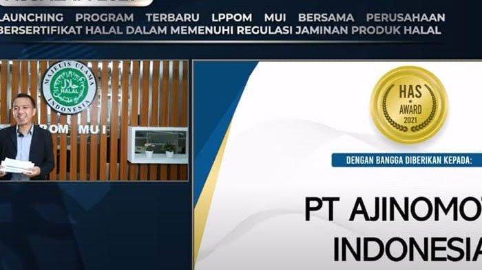 Ajinomoto Indonesia Terima HAS Award 2021 Dari Hasil Komitmennya Menerapkan SJH