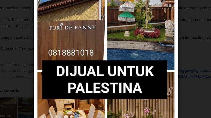 Rumah Dijual di Banyuwangi untuk Donasi Palestina Full Bangunan, Ada Kolam Renang