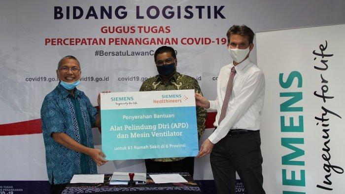 Siemens Sumbang APD dan Ventilator Untuk Penanganan Covid-19 di Indonesia
