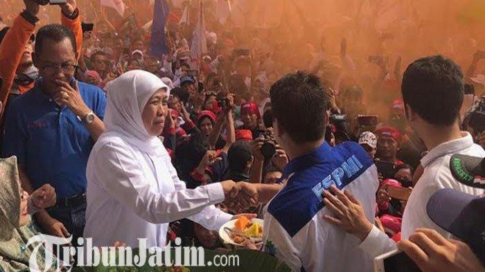 Khofifah Minta Serikat Buruh Bentuk Tim untuk Kawal 9 Poin Kesepakatan May Day Jawa Timur