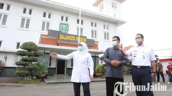 Gubernur Khofifah dan Gubernur Anies Baswedan Bertemu di Balaikota Madiun