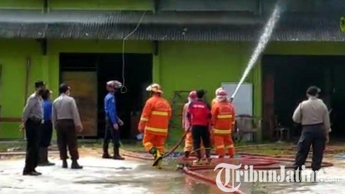 Kebanyakan Aset Provinsi, Nilai Kerugian Kebakaran Gudang Alsintan di Trenggalek Belum Jelas