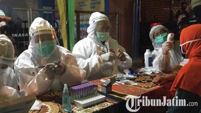 17 Pedagang Tuban Reaktif Saat Rapid Tes di Pasar Bojonegoro, Gugus Tugas: Kita Tunggu Hasil Swab