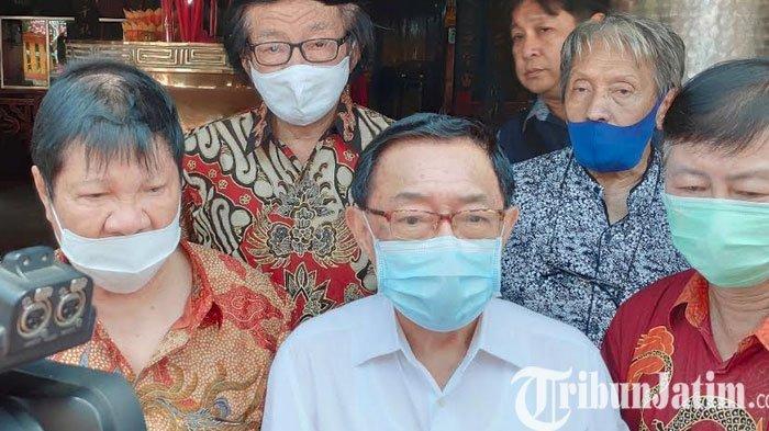 Prosesi pembukaan TITD Kwan Sing Bio melibatkan Bos Maspion Grup Alim Markus, Bos Kapal Api Soedomo Mergonoto dan Paulus Welly Affandi (wefan), Minggu (25/10/2020).