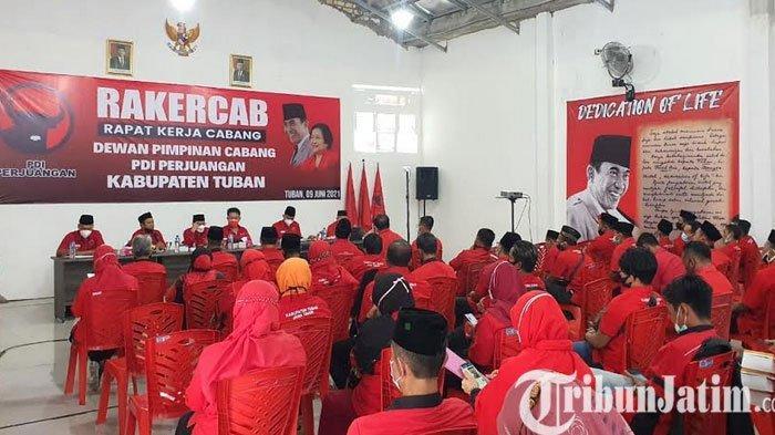 Rakercab PDI Perjuangan Tuban, Kerja Keras Untuk Menangkan Pemilu