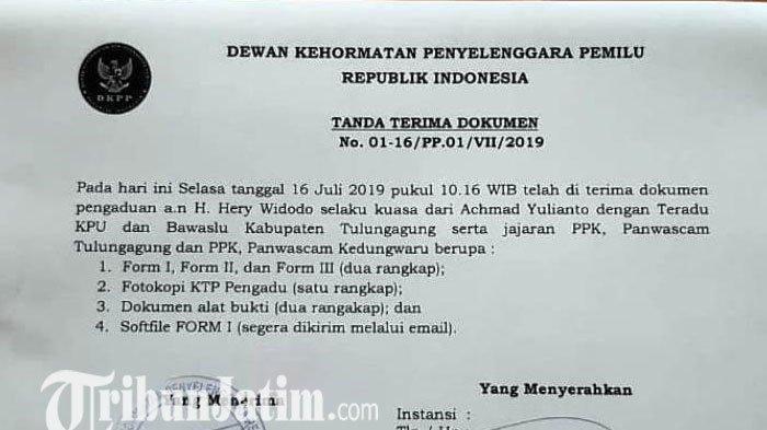Caleg Nasdem Melaporkan KPU dan Bawaslu Tulungagung ke DKPP, Penyebabnya ini
