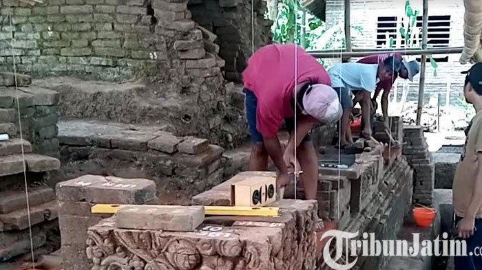 Pemugaran Candi Mirigambar Tulungagung Mencapai 40 Persen, Batu Bata Mulai Ditata Lagi