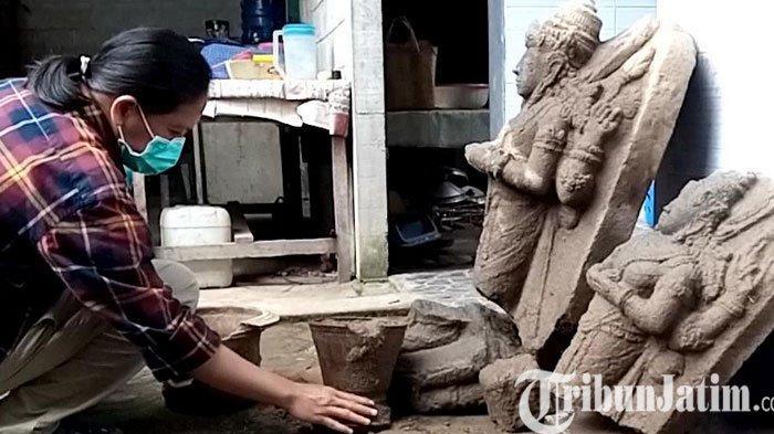 BPCB Jatim Memeriksa Temuan Struktur Bangunan Kuno di Lokasi Penemuan Arca Siwa dan Parwati