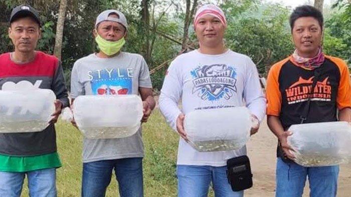 Dari Donasi Sampah, WWI Melepaskan Ribuan Benih Ikan Tawes di Perairan Air Tawar Tulungagung