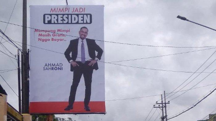 Billboard Sang Pemimpi Jadi Presiden Ahmad Sahroni Hadir di Malang