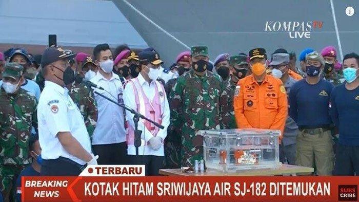 Butuh 3 Jam Black Box Sriwijaya Air SJ 182 Ditemukan, Tapi Pencarian Belum Usai, Masih Perlu CVR