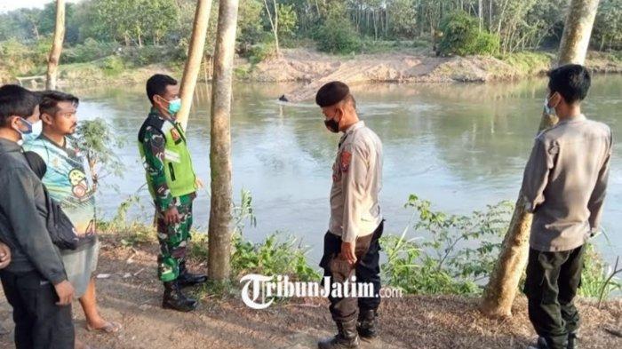 Dua Bocah SMP di Blitar Hanyut Saat Mandi di Sungai Brantas, 1 Selamat dan 1 Belum Ditemukan