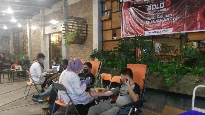 Peringati Isra Miraj Nabi Muhammad SAW, Bold Riders Madiun Gelar Donor Darah