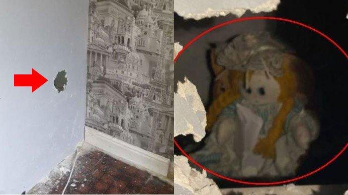Jebol Dinding Rumah, Pria Temukan Boneka Misterius di Dalamnya, Terselip Surat Aneh: Menusuk