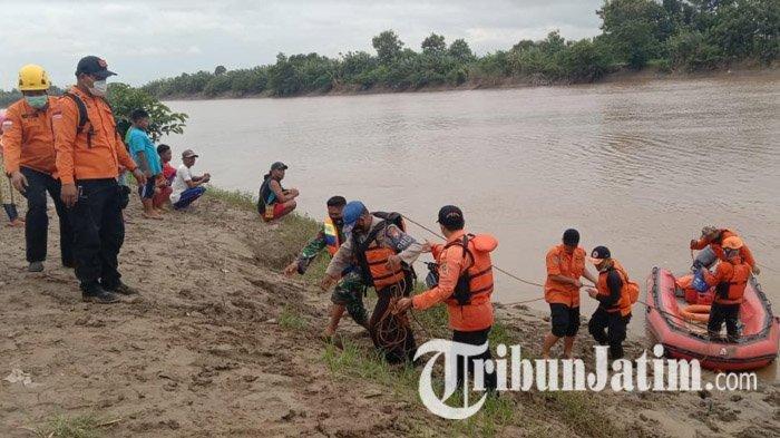 BREAKING NEWS: Pria di Tuban Hilang Saat Perbaiki Saluran Irigasi, Tim Sisir Sungai Bengawan Solo