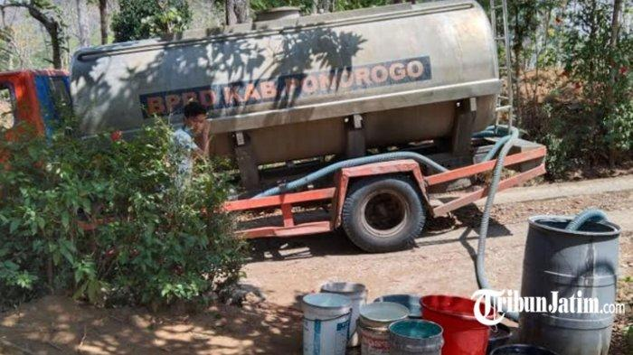 10 Ribu Jiwa Berpotensi Terdampak Kekeringan, BPBD Ponorogo Siapkan Droping Air Bersih