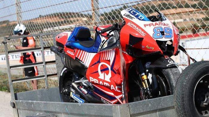 Alami Patah Tulang Ibu Jari Akibat Kecelakaan Horor, Jorge Martin Absen Balapan di MotoGP Portugal