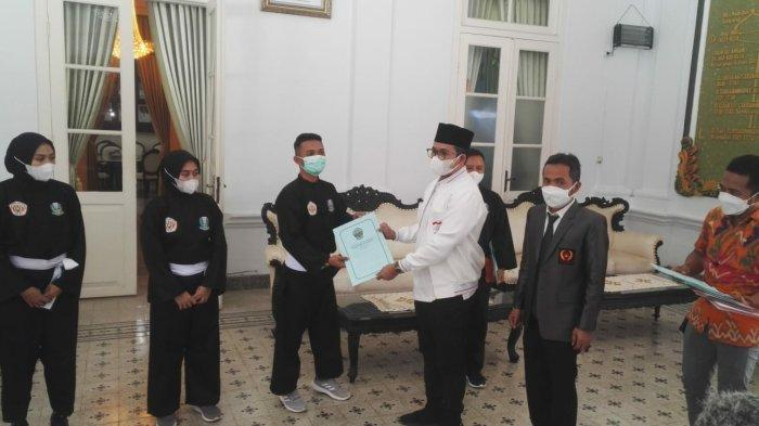 Empat Atlet PON XX Papua Asal Bangkalan Berpamitan, Bupati Ra Latif : Kami Siapkan Bonus