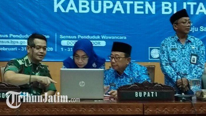 Bupati Blitar Pimpin Rakor Sensus Penduduk 2020, Imbau PNS Jadi Pionir Sensus Penduduk Via Online