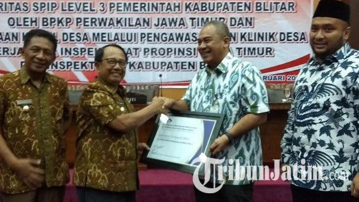Pemkab Blitar Raih Penghargaan Maturitas SPIP Level 3 dari BPKP Perwakilan Jatim