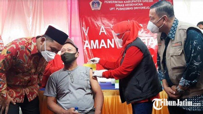Pedagang di Pasar Gresik Vaksinasi Covid-19 Hari Ini, Bupati Gus Yani Harap Ekonomi Pasar Pulih