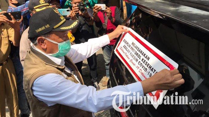 Demi Tekan Angka Kasus Covid-19, Pemkab Gresik Launching Mobil Penegakan Disiplin Protokol Kesehatan