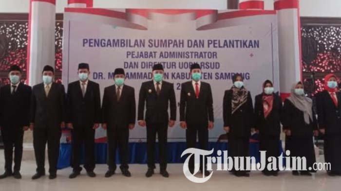 Bupati Sampang Lantik 7 Pejabat Administrator dan Direktur RSUD dr Mohammad Zyn, Ini Nama-namanya