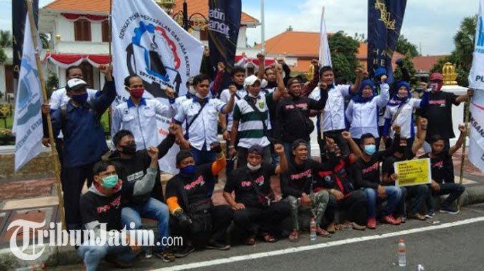 Aksi Tolak UU Cipta Kerja Akhir Tahun 2020 Serentak di 18 Kota/Kabupaten, Buruh Jatim Turun Mengawal