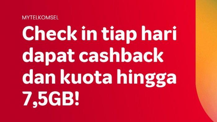 Cara Dapat Saldo LinkAja atau Monetary Telkomsel Gratis hingga Kuota 7,5 GB, Cuma Check In Tiap Hari