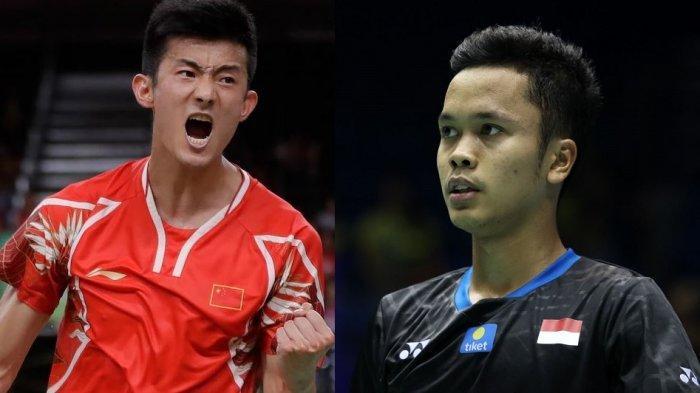 Semifinal Olimpiade Tokyo 2020, Riwayat Pertemuan Anthony Sinisuka Ginting Vs Chen Long