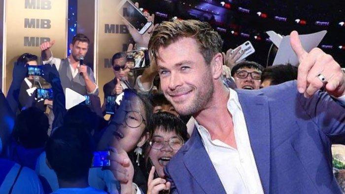 VIRAL VIDEO Penonton Histeris Chris Hemsworth Bisa Sebut Satu Kata Hits Indonesia saat Kunjungi Bali
