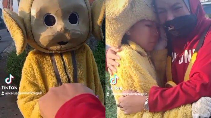 Kisah Cindy Si Anak Yatim Pakai Kostum Badut Warisan Ayahnya, Nangis Curhat Sering Diejek Tetangga
