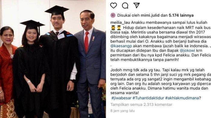 Ibu Felicia Gagal Jadi Besan Jokowi, Ada Pelakor? Kuak Janji Kaesang: Bukan dari Keluarga Terpandang