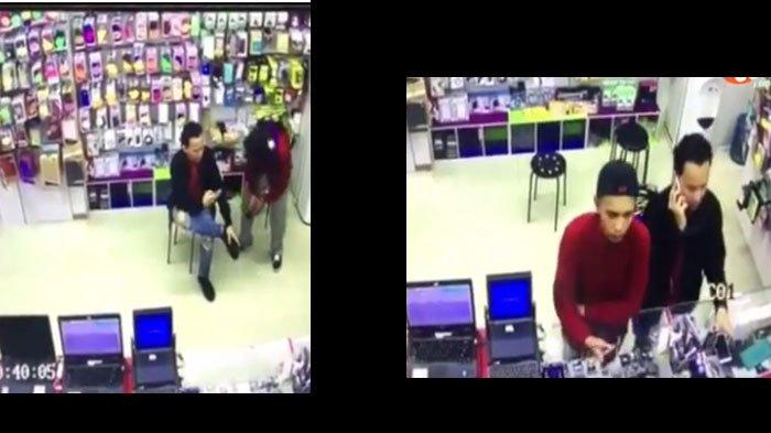 VIDEO:  Masuki Sebuah Toko, Dua Pria Lakukan Pencurian, Perhatikan Gerakan Tangannya, Canggih Banget