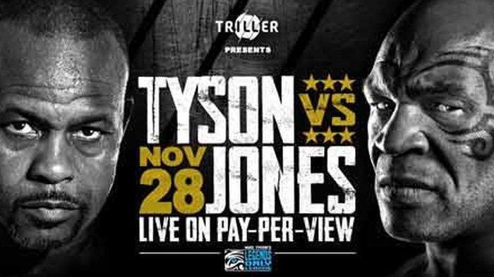 Jadwal Siaran Langsung Tinju Dunia - Mike Tyson vs Roy Jones Jr