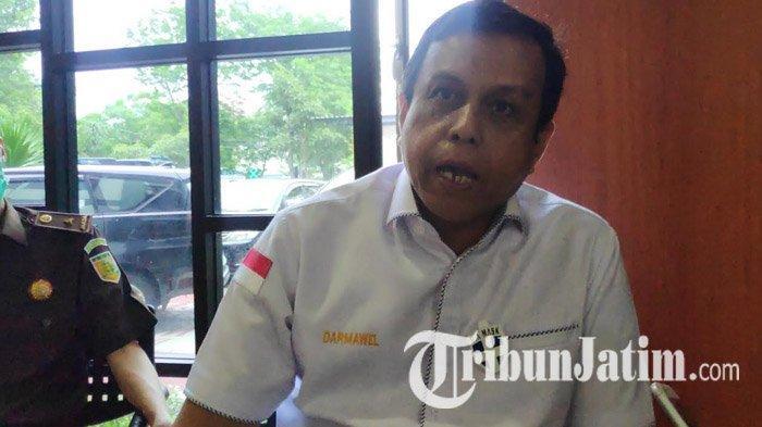 Direktur Tindak Pidana Narkotika dan Zat Adiktif Kejaksaan Agung, Darmawel Aswar melakukan kunjungan di Kejaksaan Tinggi Jawa Timur, Senin (7/12/2020).