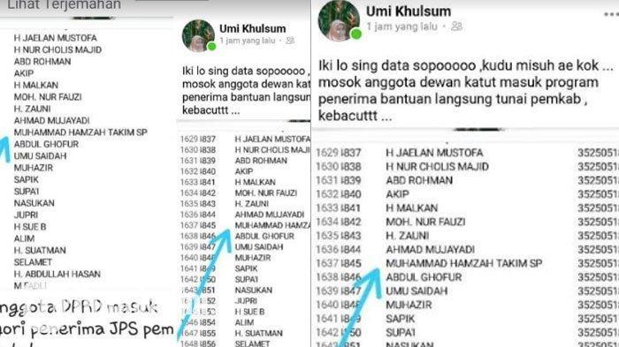 BREAKING NEWS - Nama Anggota DPRD Gresik Masuk Daftar Penerima BLT Covid-19, Netizen Geger: Wah!