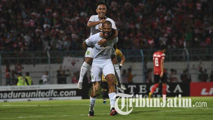 Babak Pertama Madura United Vs Persebaya, Bomber Tajam Asal Brasil Cetak Gol, Bajul Ijo Unggul 0-1