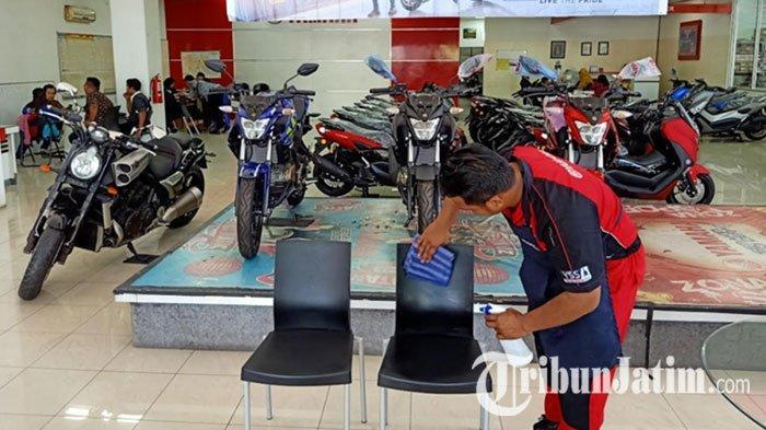 Yamaha Kenjeran Surabaya Sudah Disemprot Disinfektkan, Konsumen Senang: Tidak Was-was Virus Corona