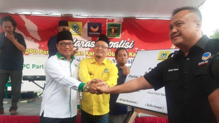 Deklarasi Koalisi Tiga Partai Jelang Pilkada Gresik 2020, Masih Belum Sepakati Nama Cabup & Cawabup