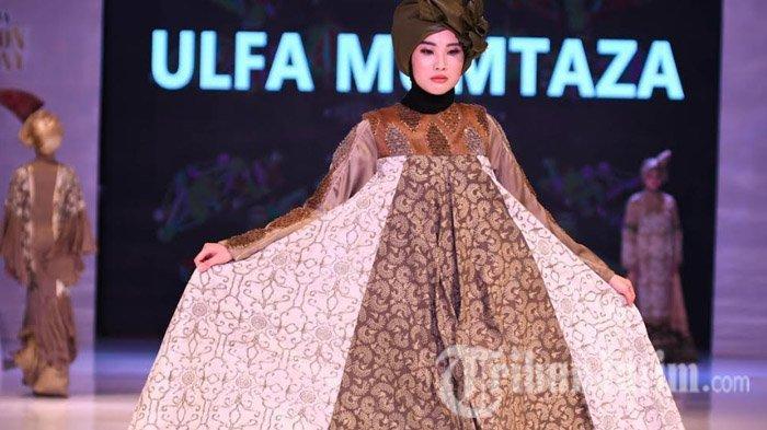 Desainer Ulfa Mumtaza Sulap Batik Motif Fosil Wojo dari Ngawi Jawa Timur Jadi Gaun Pesta Glamor