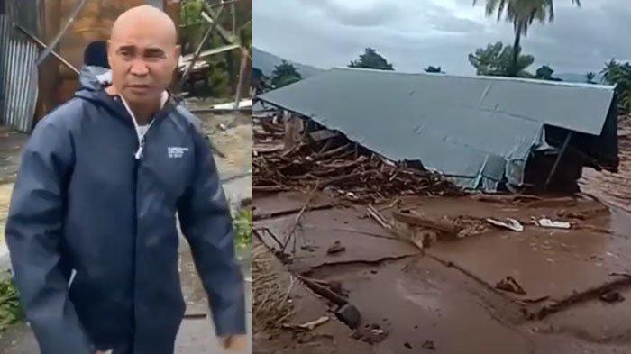 Tragis Kini Warga NTT Dikepung Bencana, Gubernur Viktor Nyaris Celaka 'Disambut' Angin, Rumah Roboh