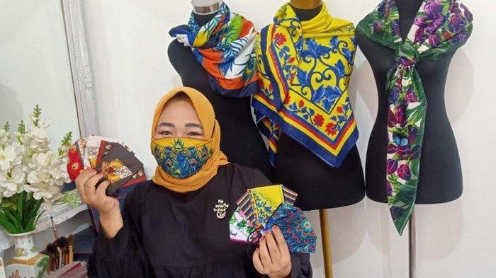 Masker Painting Cantik Kreasi Diah Gardenia, Ada Berbagai Motif, Merak Sampai Gegunungan