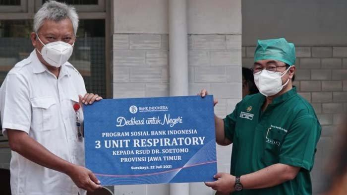 Dedikasi untuk Negeri, BI Beri Alat Terapi Oksigen Pasien Covid-19 RSUD dr Soetomo Surabaya